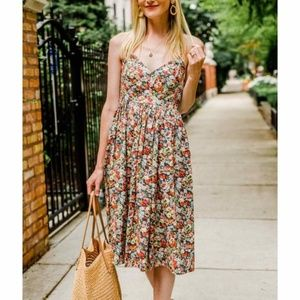 J. CREW Liberty Fabric Lace-up Thorpe Floral Dress